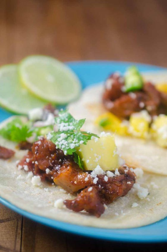 BBQ Brisket Tacos with Pineapple Salsa