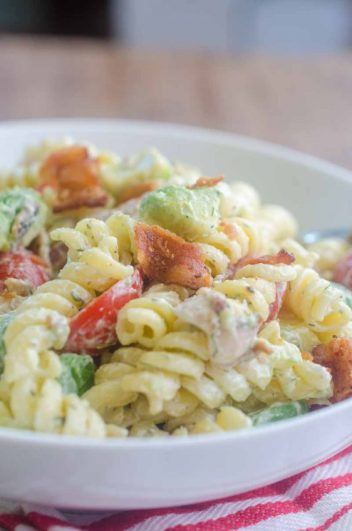 Bacon Tomato Avocado Pasta Salad