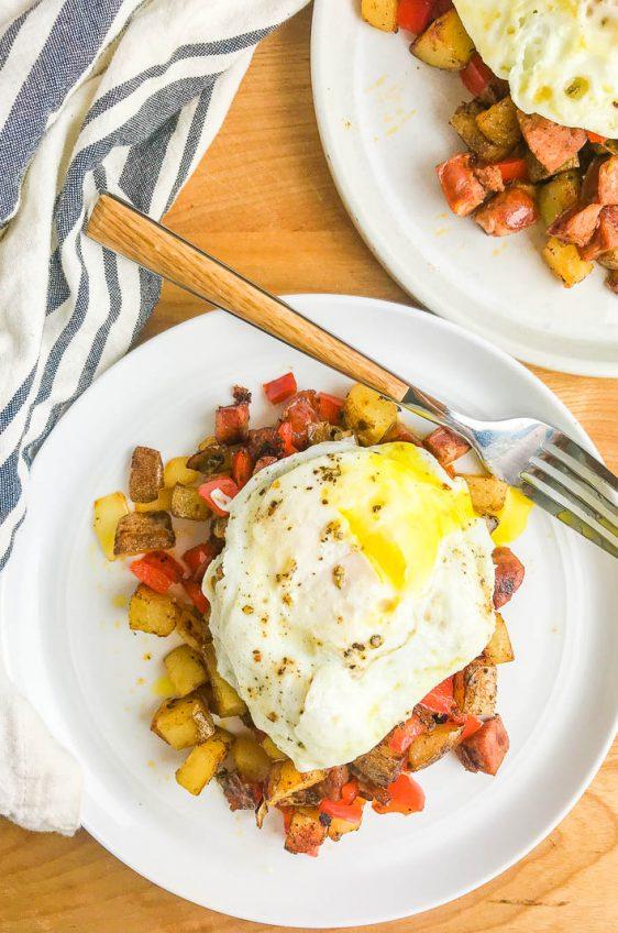 Cajun Cast Iron Breakfast Skillet Recipe