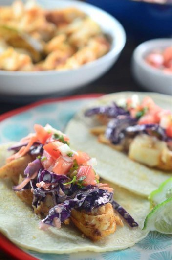Chili Rubbed Fish Tacos