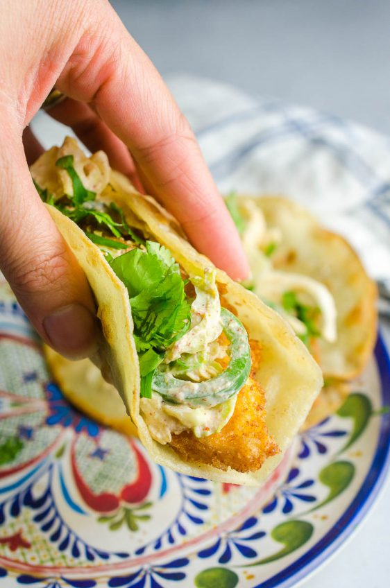 Fish Tacos with Spicy Slaw