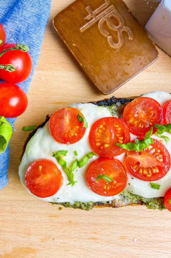 Grilled Burrata Caprese Bread