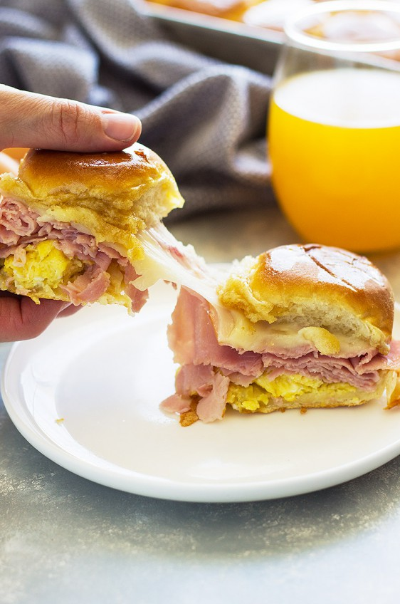 Ham and Swiss Breakfast Sliders