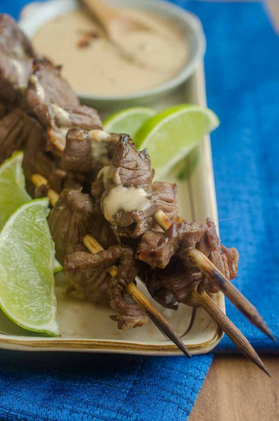 Hoisin Marinated Beef Skewers