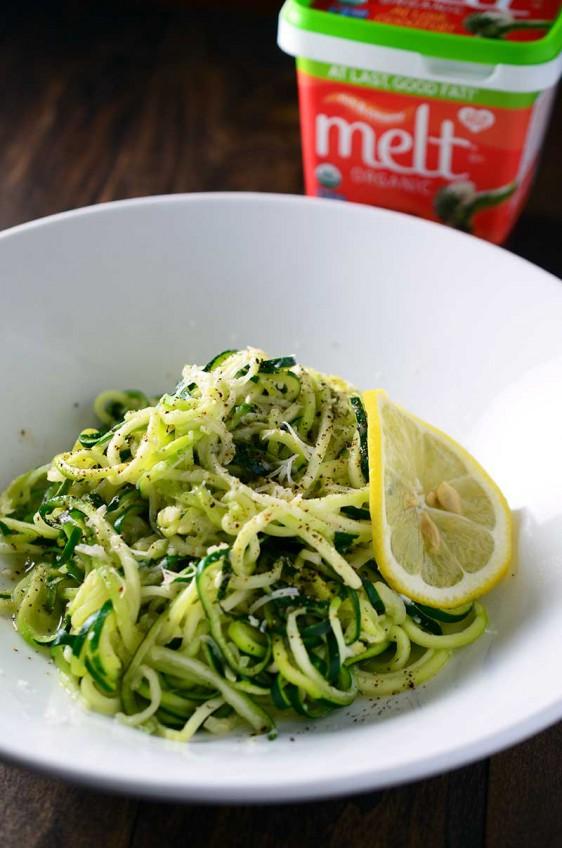Lemon Parmesan Zucchini Noodles