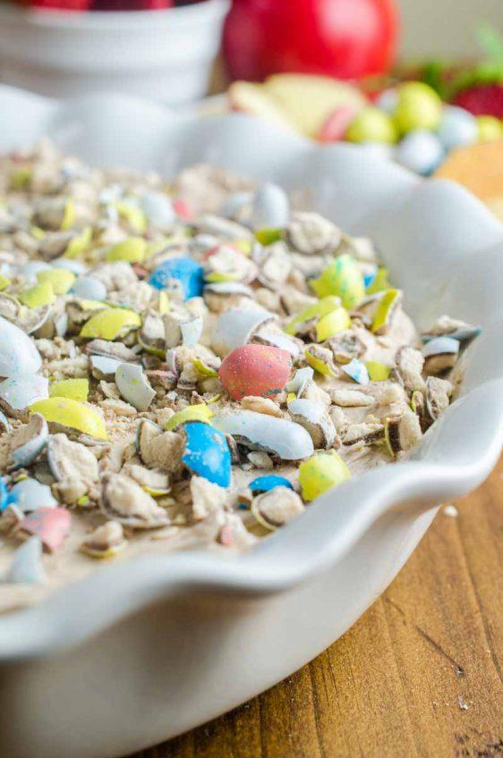 Malted Robin Egg Cheesecake Dip #EasterSweetsWeek