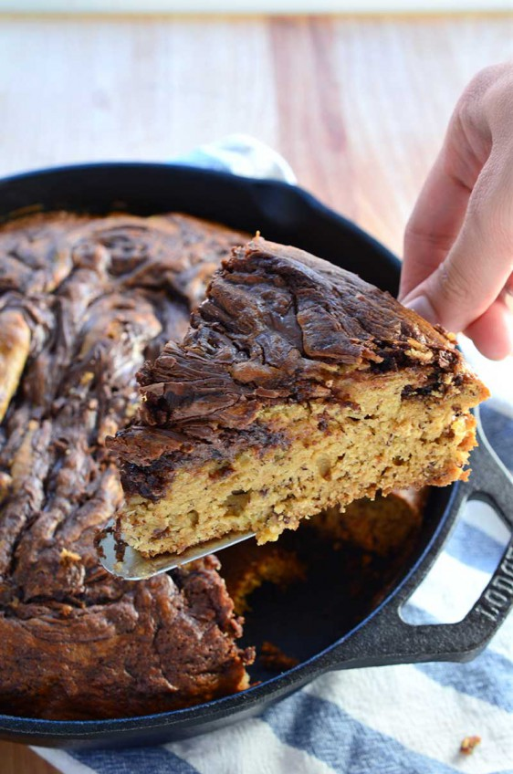 Skillet Nutella Banana Bread