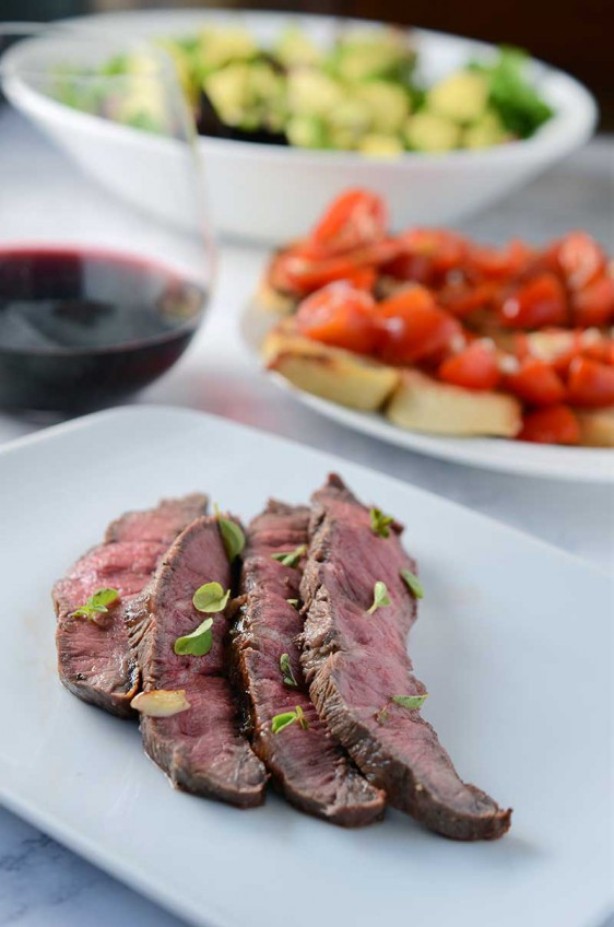Oregano and Garlic Flat Iron Steak