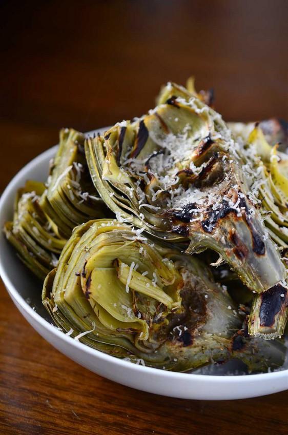Parmesan Herb Grilled Artichokes