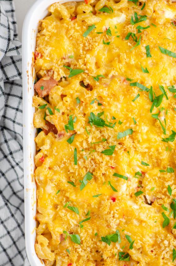 Pimento Mac and Cheese Casserole