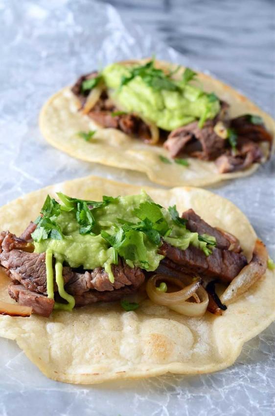 Prime Rib Tacos with Avocado Horseradish Sauce
