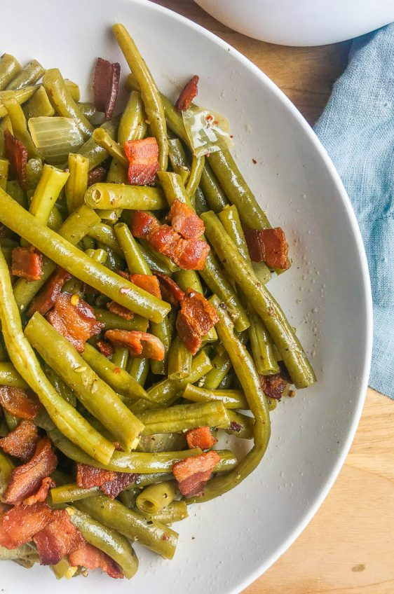 Southern Style Green Beans with Bacon