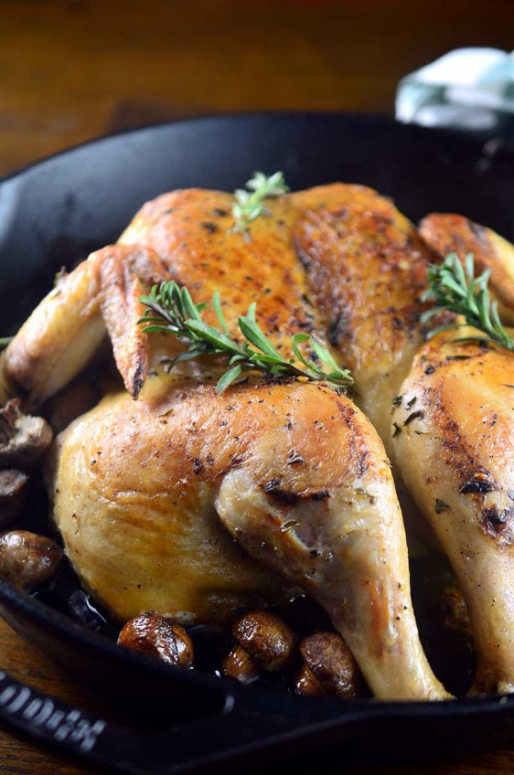 Summer Savory Spatchcocked Chicken