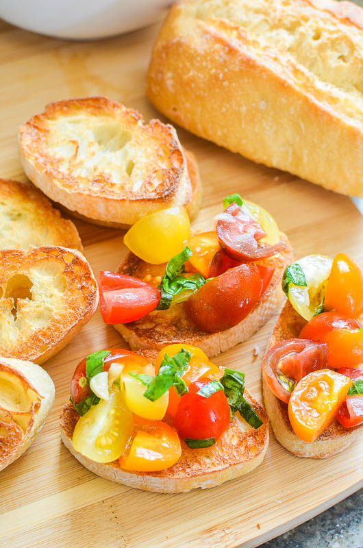Summer Tomato Bruschetta