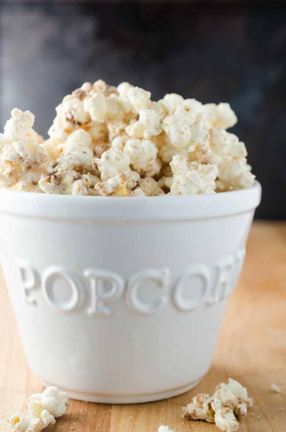 White Chocolate Churro Popcorn