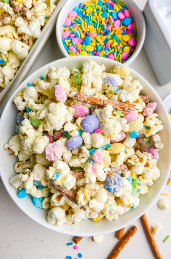 White Chocolate Easter Popcorn Mix