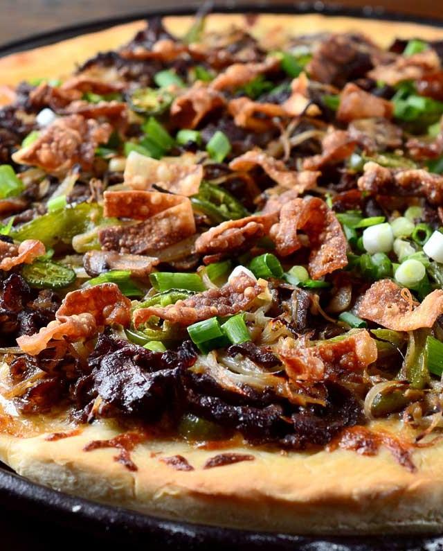 Mongolian BBQ Pizza