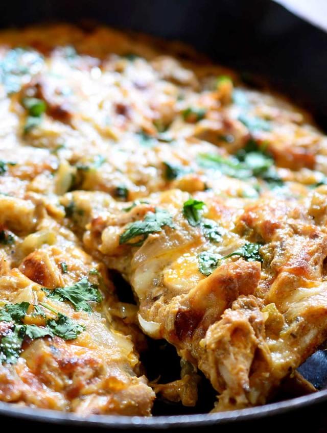 Verde Chicken Enchilada Pizza