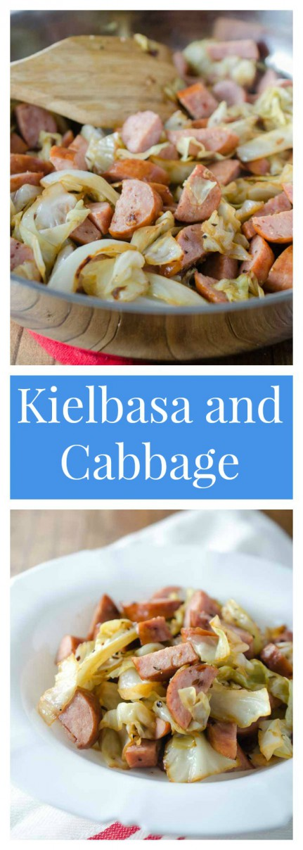 A true comfort food meal, Kielbasa and Cabbage is a family favorite on cold winter days!