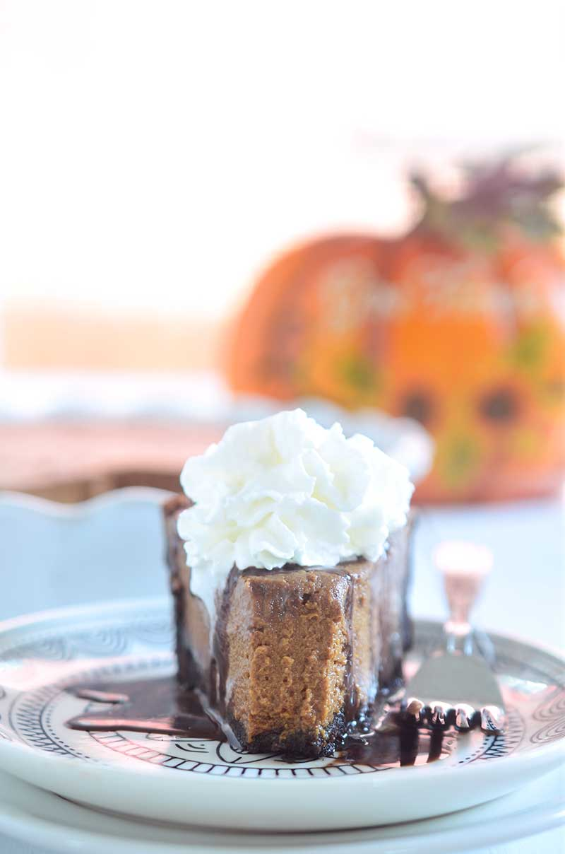 Bourbon Chocolate Pumpkin Pie