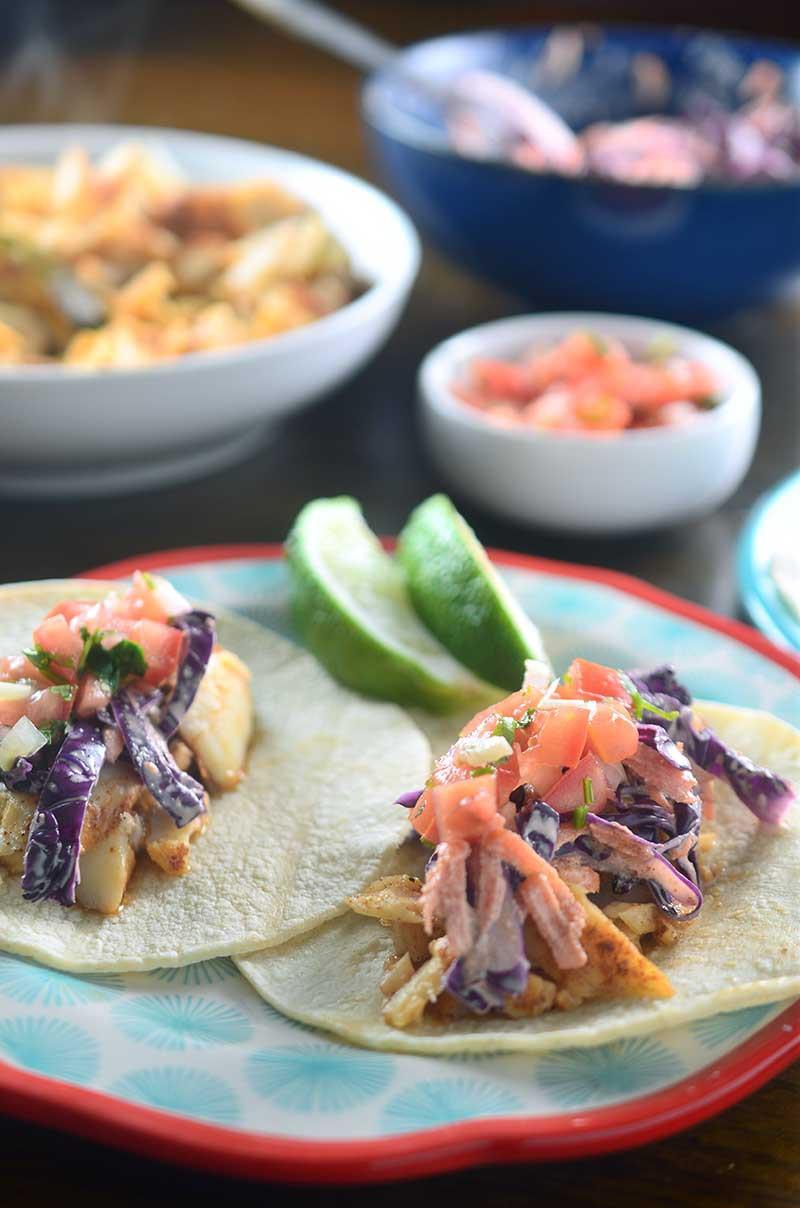 Chili Rubbed Fish Tacos