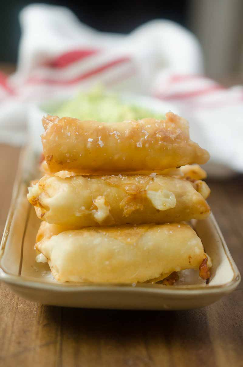 Fried Pepper Jack Cheese Sticks are a must for any game day! Spicy pepper jack cheese, wrapped in a wonton wrapper and fried until melted and golden.