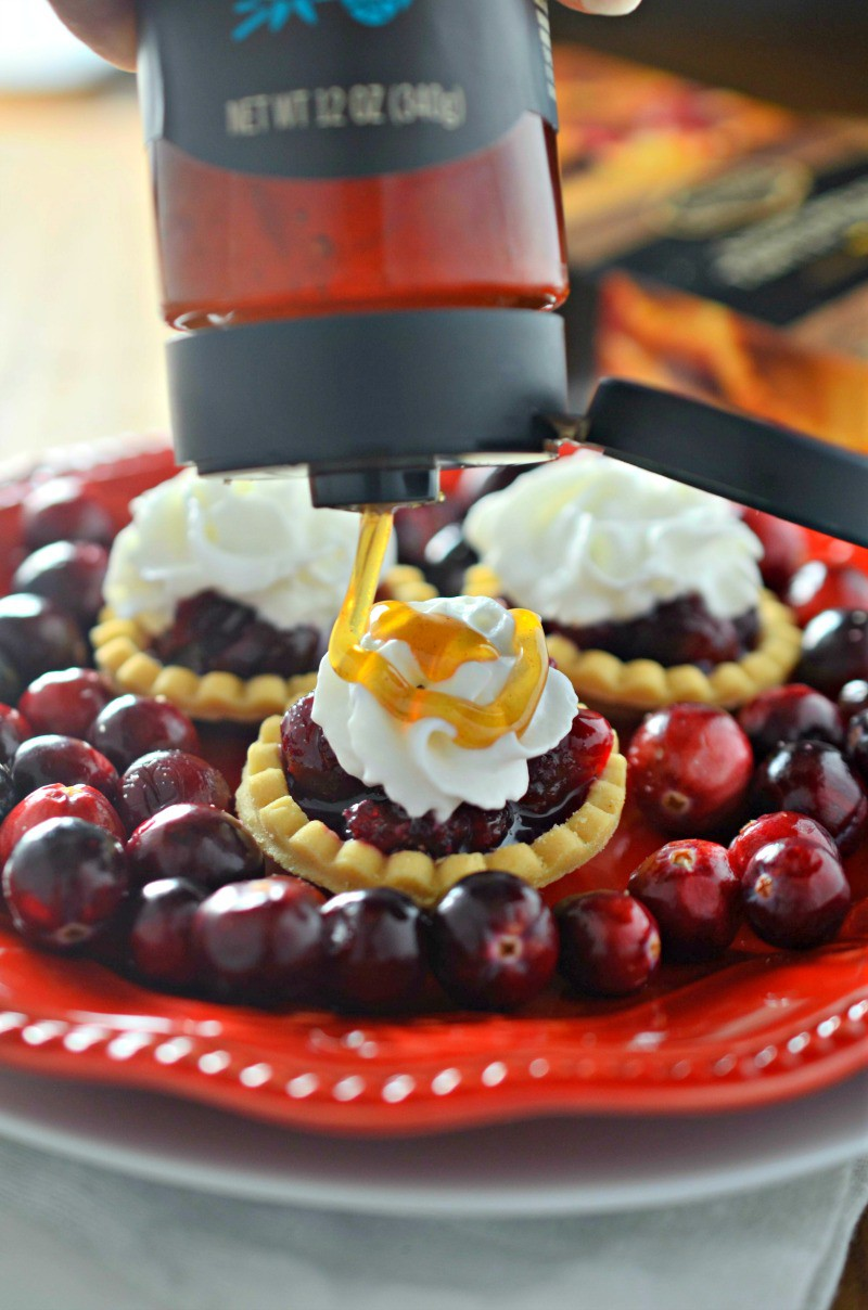 #ad Bite size and perfect for parties, these Honey Cranberry Tartlets should make an appearance at all of your holiday get togethers.