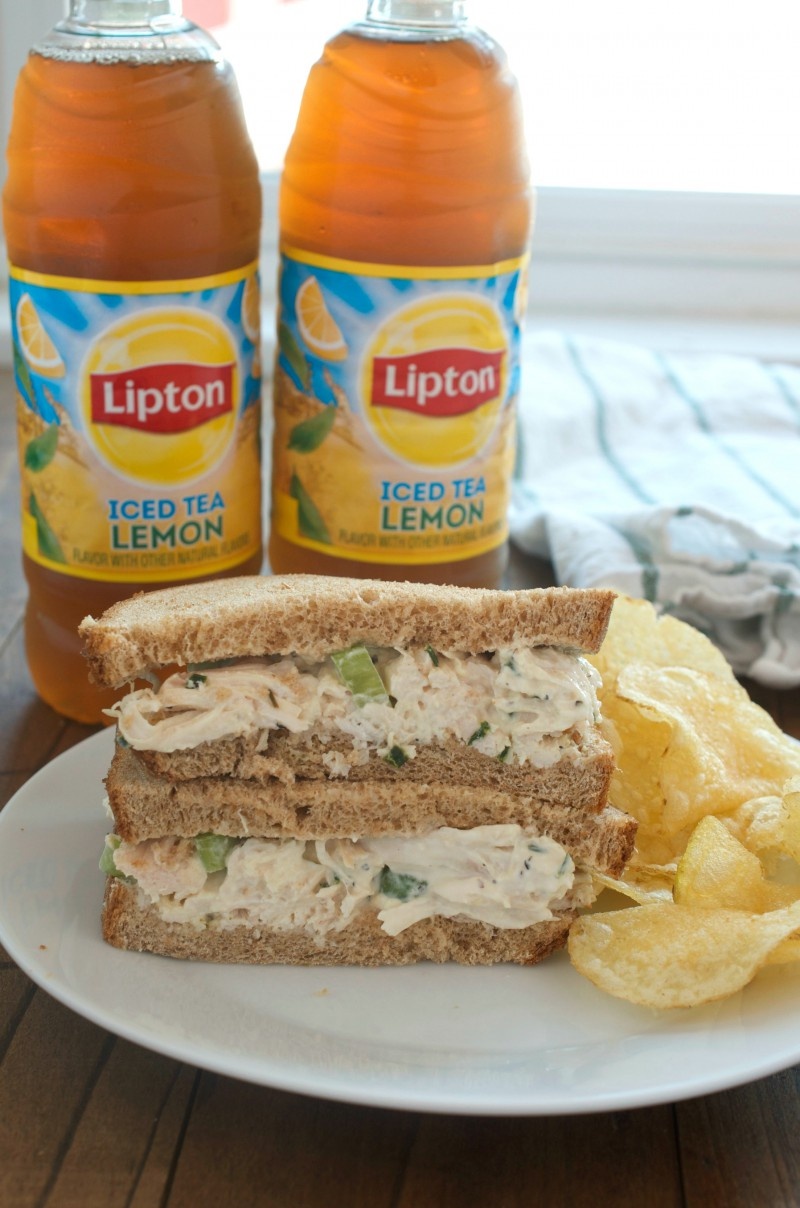 #ad Lemon Pepper Chicken Salad is a summery twist on the classic and sure to become a new favorite! #brightbites