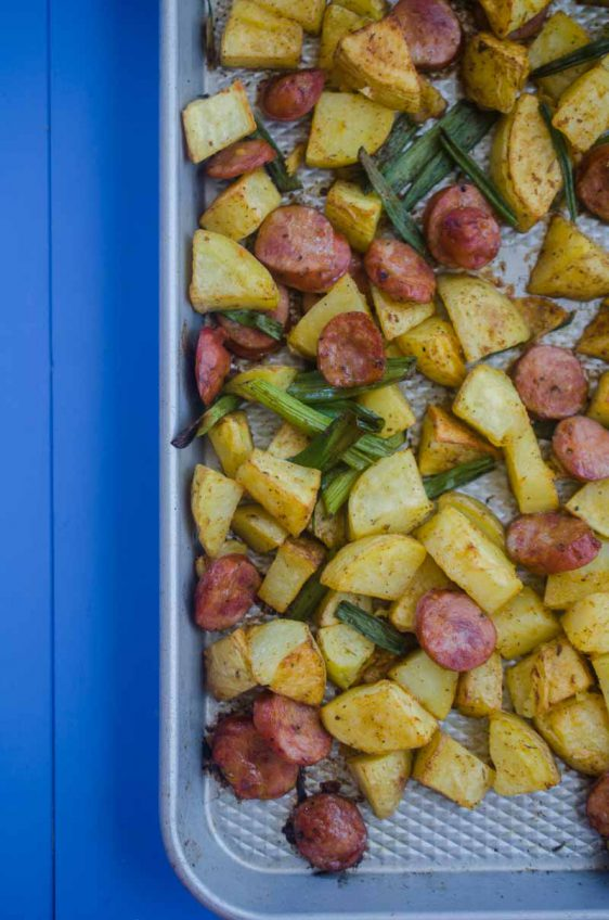 Andouille Potato Sheet Pan Dinner