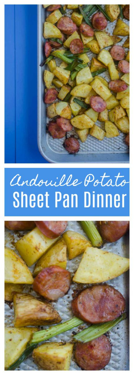 If you are looking for a quick and easy meal this Andouille Potato Sheet Pan Dinner is it. Easy, flavor packed and perfect for weeknights.