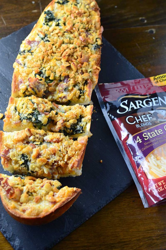 Bacon and Kale Cheese Bread