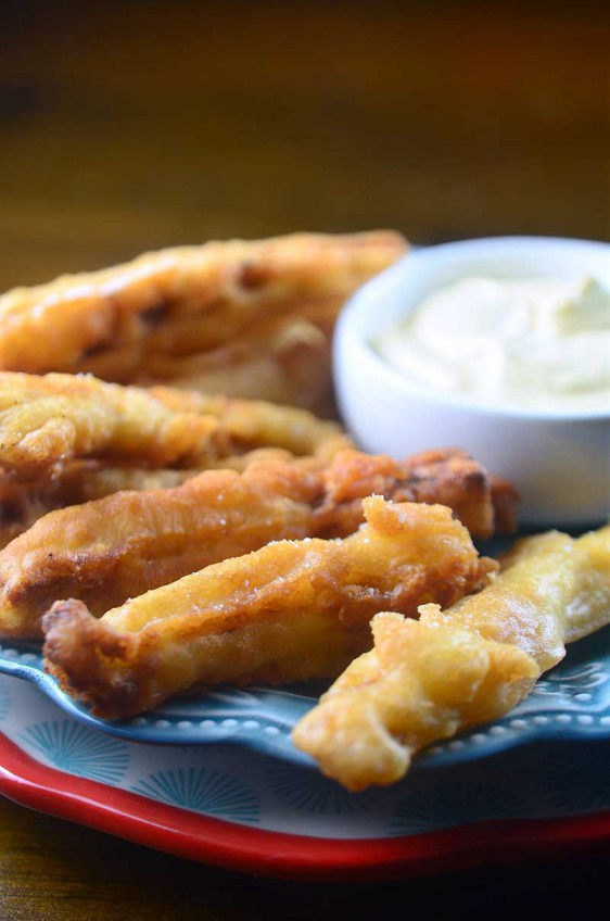 Beer Battered Eggplant Fries