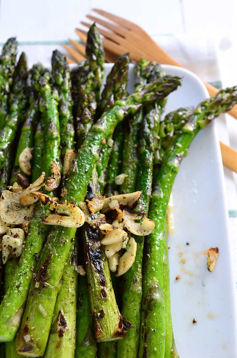 Blistered Asparagus