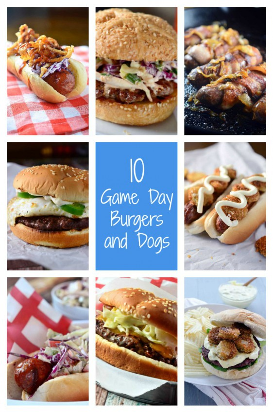 10 Game Day Burgers and Dogs