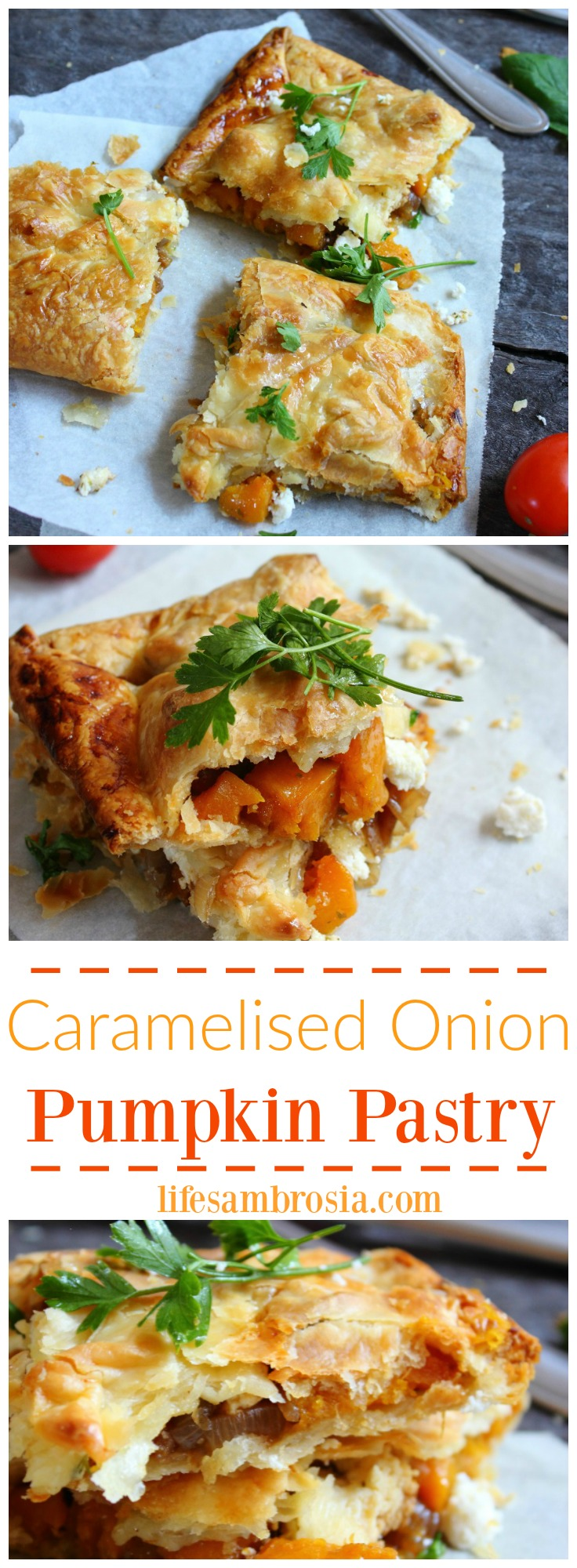 Caramelised Onion Pumpkin Pastry PINTEREST 2