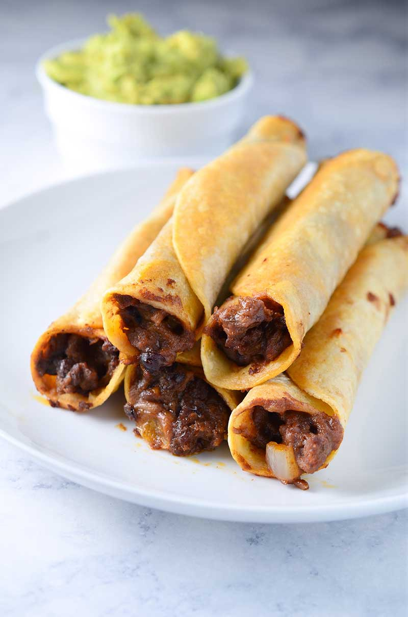 Cheesy Chorizo & Black Bean Taquitos - Life's Ambrosia
