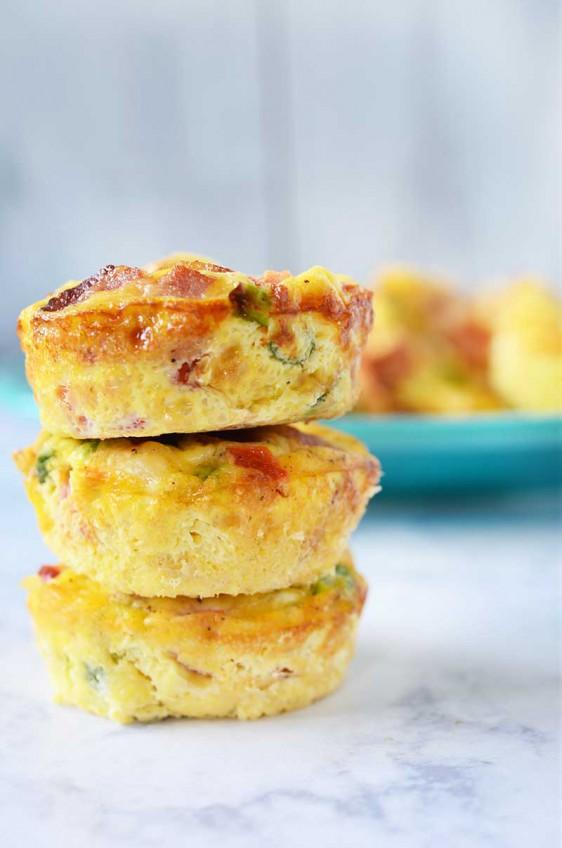Recipe for Cheesy Mini Frittatas - Life's Ambrosia Life's Ambrosia