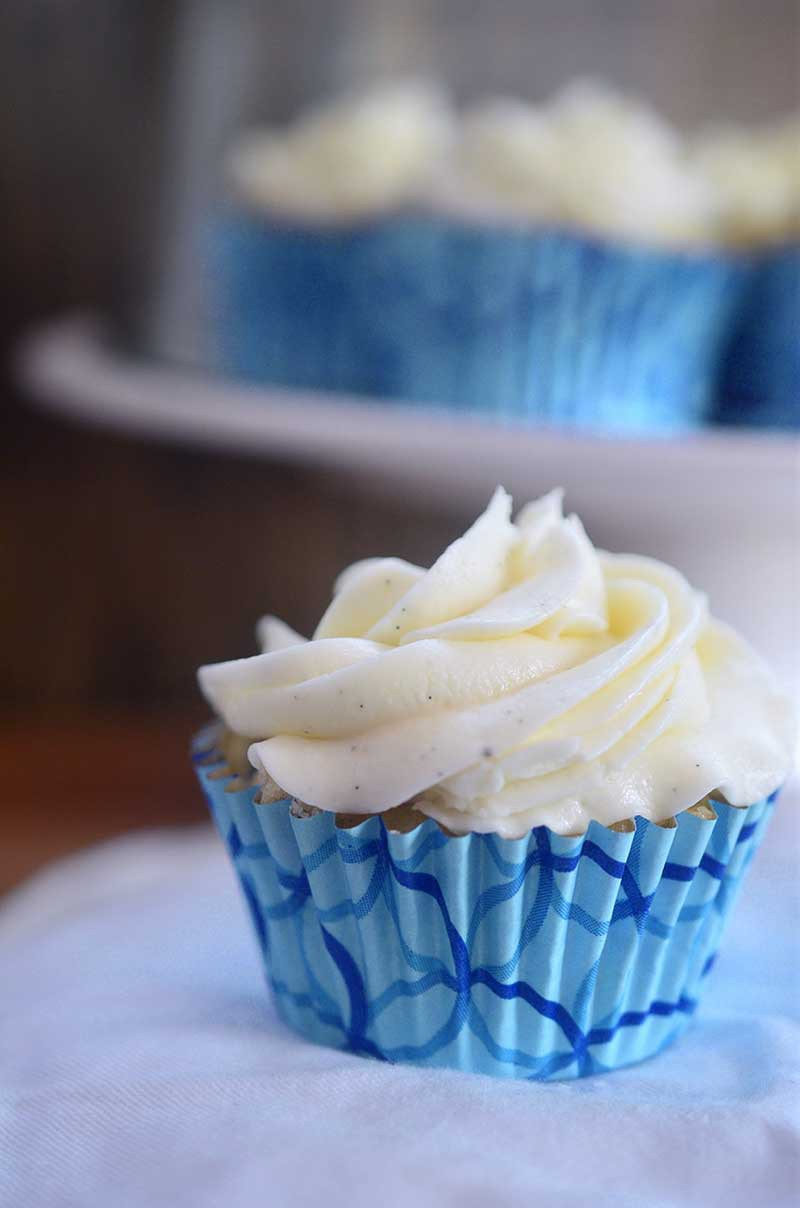 Chocolate Chip Cupcakes with Vanilla Bean Buttercream - Life's ...