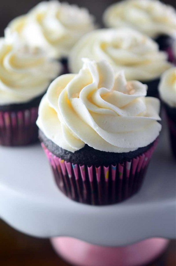 Recipe for Chocolate Cupcakes with Vanilla Buttercream Life's Ambrosia