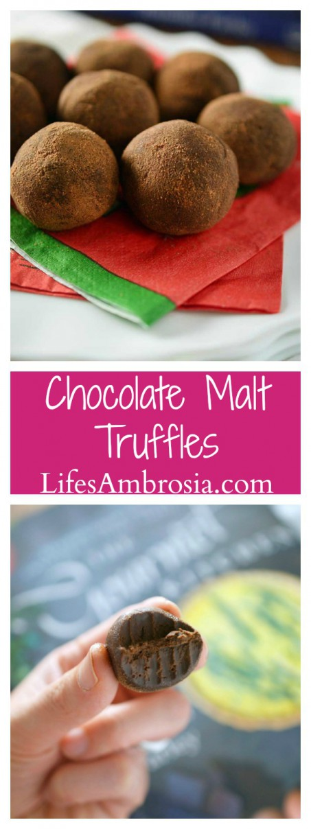 Chocolate Malt Truffles are dangerously easy to make, sinfully decadent and perfect for holiday candy plates!