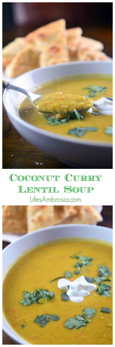 Coconut Curry Lentil Soup