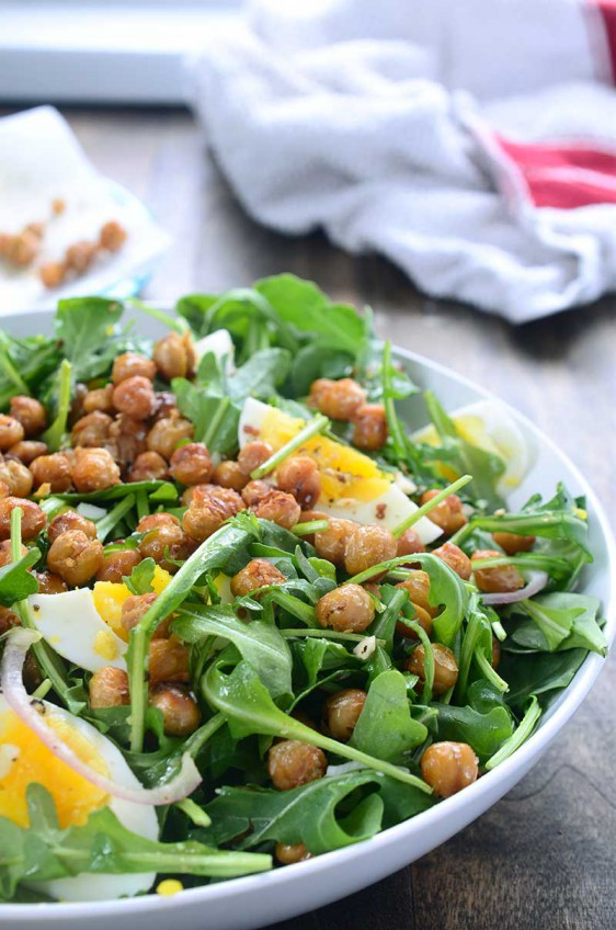 Crispy Chickpea and Arugula Salad