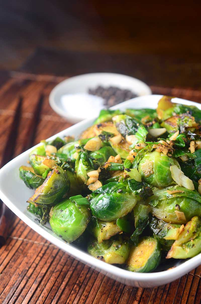 Crispy Salt and Pepper Brussels Sprouts