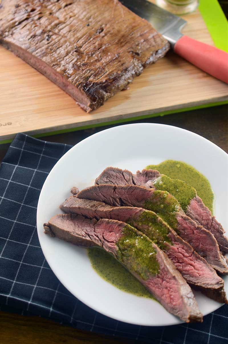Flank Steak with Asian Chimichurri Sauce