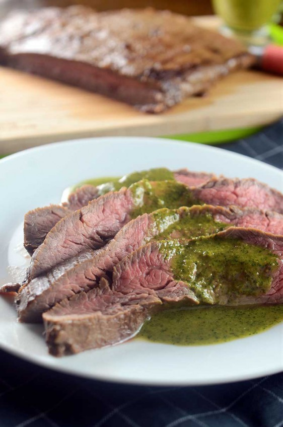 Recipe for Flank Steak with Asian Chimichurri - Life's Ambrosia Life'...