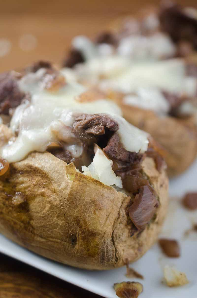 French-Style Beef Baked Potatoes