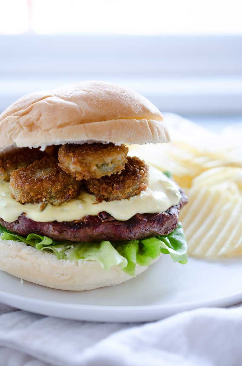 Fried Pickle Burger