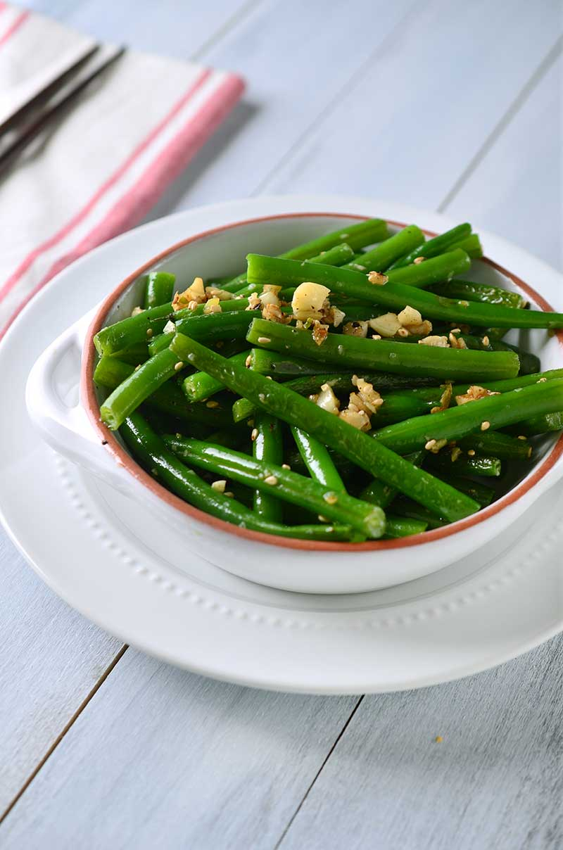 Recipe for Ginger Garlic Green Beans - Life's Ambrosia Life's Ambrosia