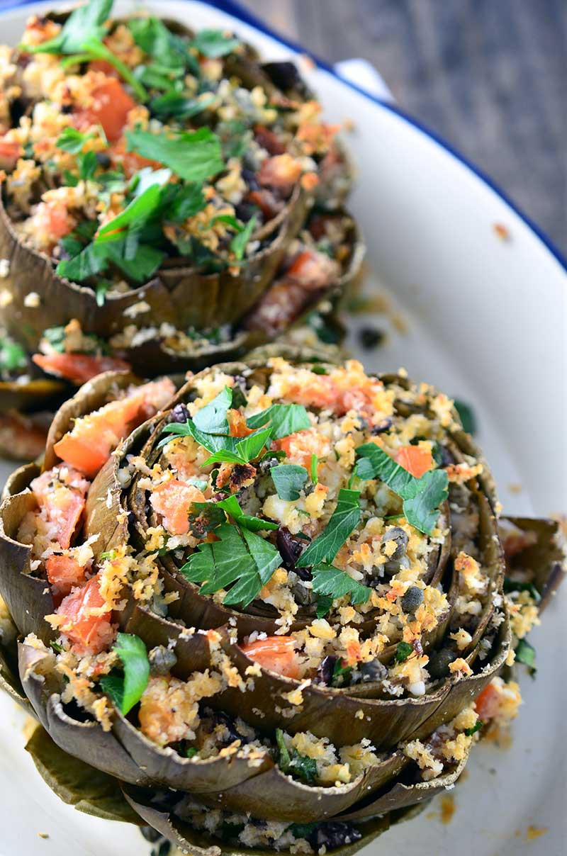 Greek Stuffed Artichokes