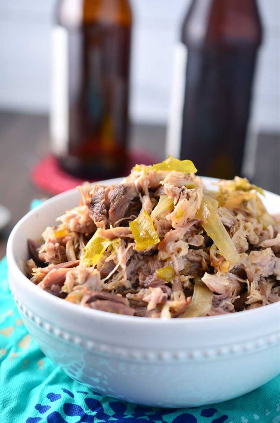 Green Chile & IPA Slow Cooker Pulled Pork